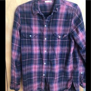 SUNDRY plaid shirt - medium - red/black